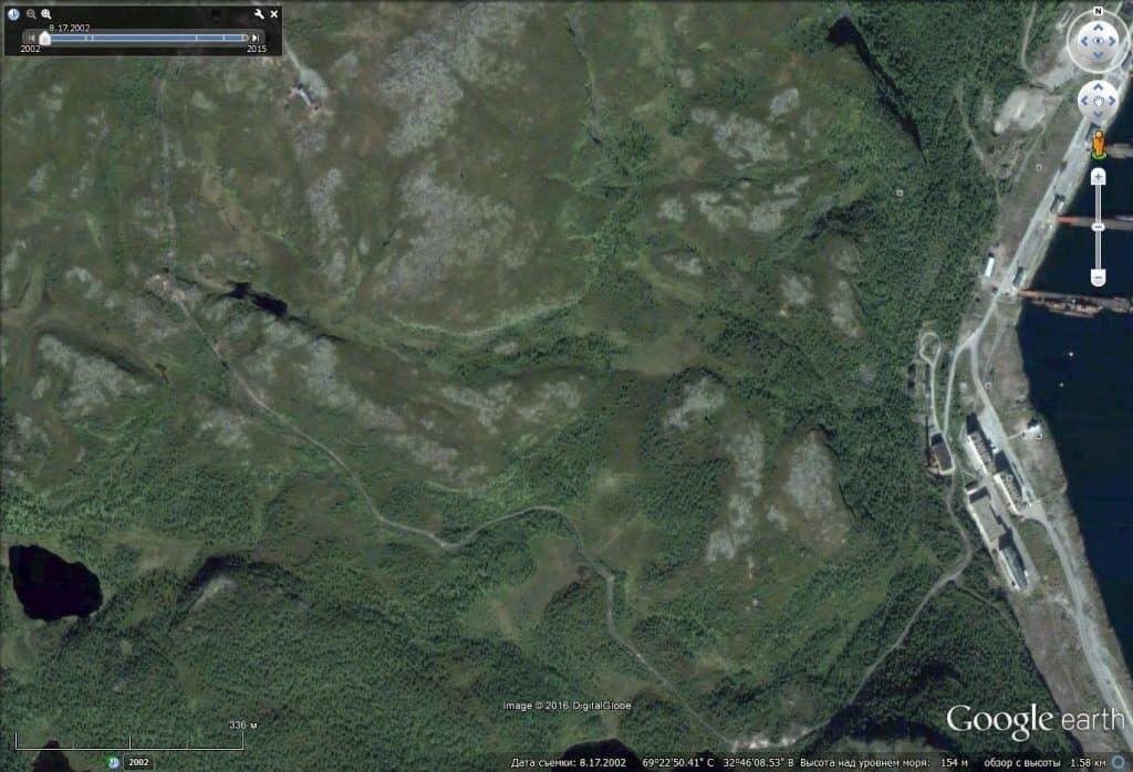 Дорога к бывшему расположению ракетчиков (август 2002 года)