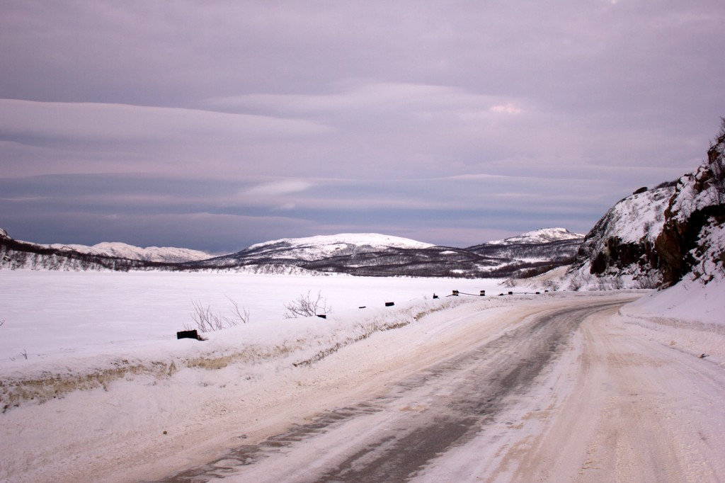 Дорога на Ара-Губу (снято 4 января 2014 года)