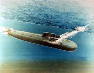 Пуск крылатых ракет с подводной лодки проекта 949
