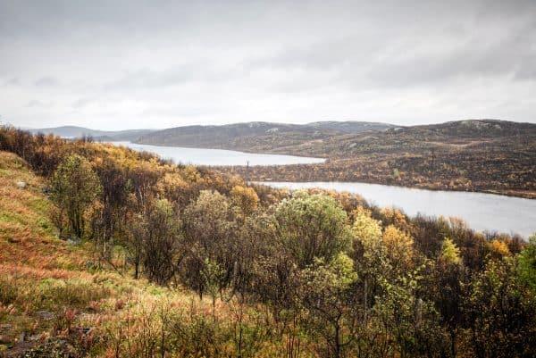 Вид на Большое Урагубское озеро со стороны 52-й площадки