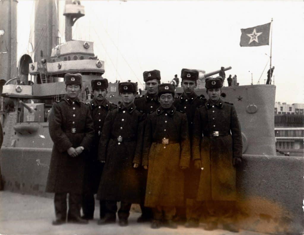 Военные строители в/ч 12625 в Ленинграде, 1988 год