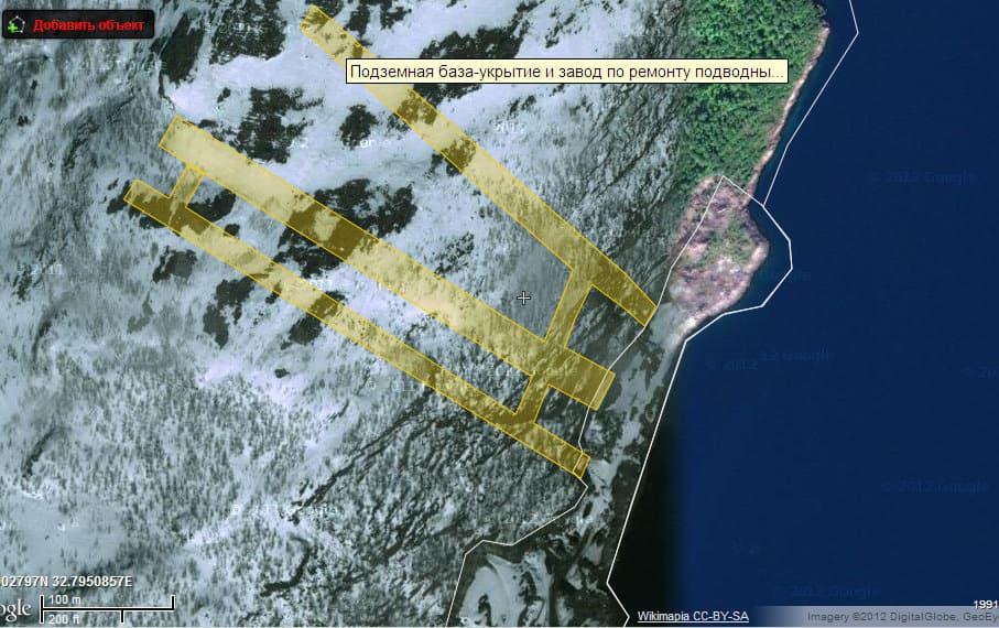 «Проходка» в Ара-Губе на карте Wikimapia