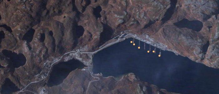 Ара-Губа на спутниковых снимках (сентябрь 2005 года)