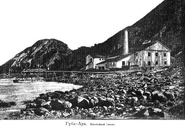 Китобойный завод в Ара-Губе, конец XIX века