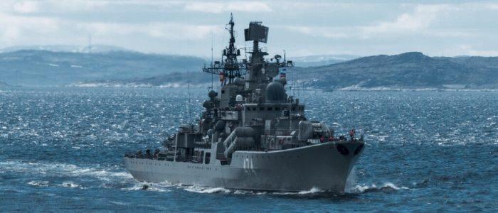 «Адмирал Ушаков»: стрельбы по береговым целям