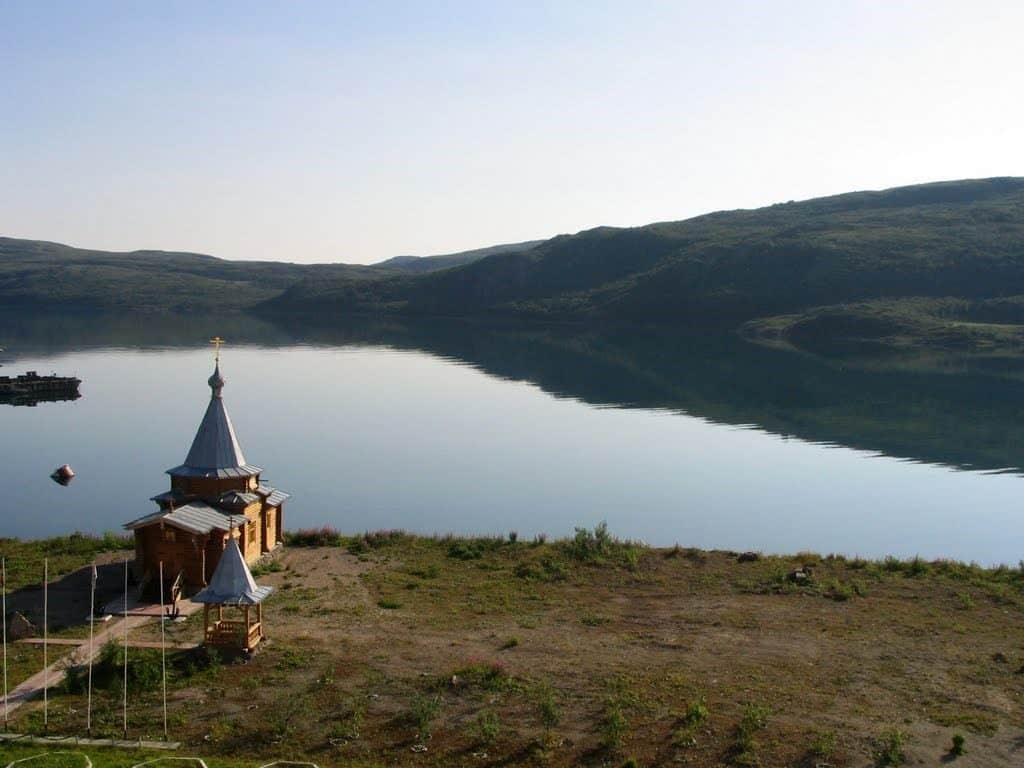 Ара-Губа, храм в честь святителя Николая Чудотворца в расположении 7-й дивизии