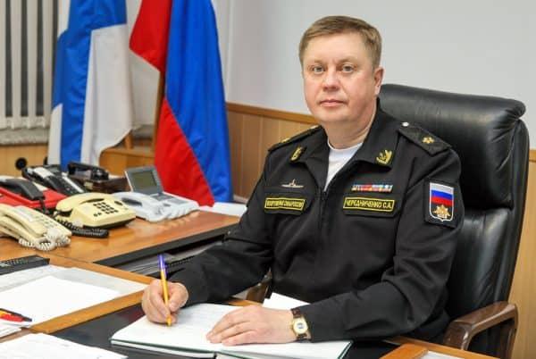 Командир 7 дивизии атомных подводных лодок Северного флота С. А. Чередниченко