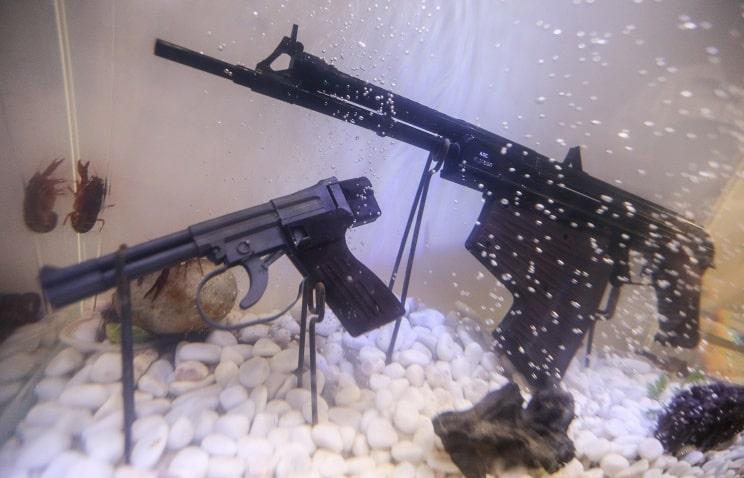 Подводный пистолет СПП-1М и подводный автомат АПС