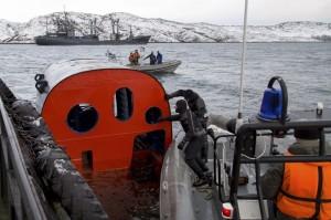 Спасательная камера АПЛ К-560 «Северодвинск», Западная Лица, ноябрь 2014 года