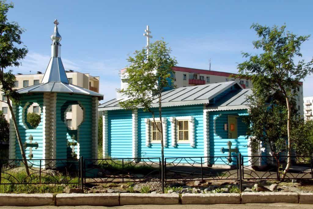 Храм Николая Чудотворца в посёлке Видяево